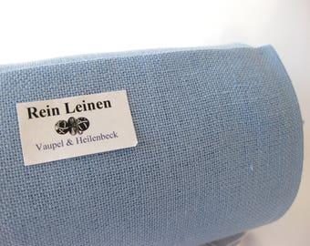 50 cm embroidery linen band 30 cm Blue