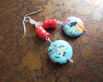 Bold Canvas Glass Beaded Dangle earrings