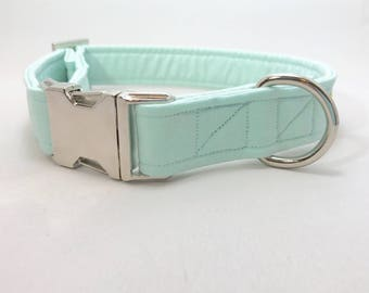 Turquoise Dog Collar · Mint Dog Collar · Solid Color Collar · Girl Dog Collar · Boy Dog Collar · Chic Dog Collar · Preppy Dog Collar ·