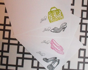 Personalized accessory noteset- shoes and handbags