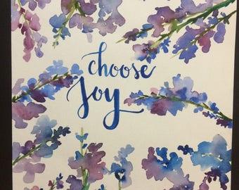Choose Joy Watercolor