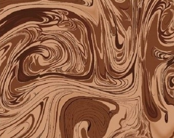 Marblecious Chocolate Brown Marble Fabric
