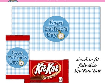 Father's Day Kit Kat Bar Wrapper (US letter size and International A4 sheets)- Digital Printable - Immediate Download