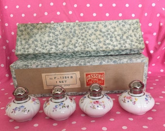 Beautiful Hinode Refined China Set of 4 Floral Salt and Pepper Shakers