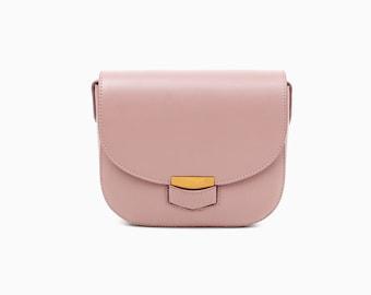 Pink Leather crossbody bag pink leather bag leather shoulder bag handmade leather bag women's pink leather bag everyday bag purse leather