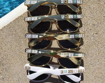 Personalized Sunglasses, Wedding Favors, Bachelorette Party Favors, Bachelorette Favors, Destination Wedding, Cruise, Mexico Trip