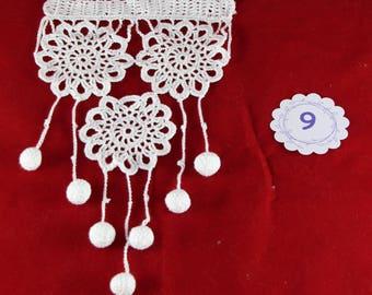Curtain crochet lace, crochet, lace, crochet, Ouessant curtain