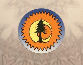 Sun Moon Pine Tree Outdoor Magnet