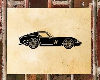 KillerBeeMoto: Limited Print Vintage Italian Engineered Sports Car Automotive Print Print 1 of 50