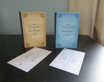 Elegant Fairytale Storybook Wedding Invitations
