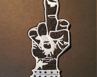 Punk Rock Middle Finger Iron On Patch