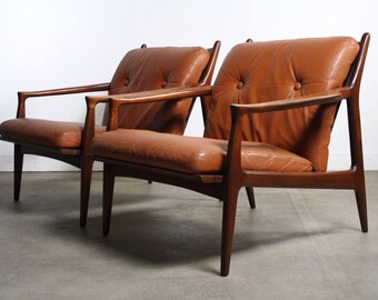 BRILLIANT set of Two 'Archie' Lounge Chairs by Milo Baughman