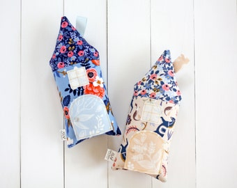 Tooth Fairy Pillow, Horses, House Pillow, Rifle Paper Co Fabric, Peach, Girls Children Toy Secret Door Keepsake, Special Edition