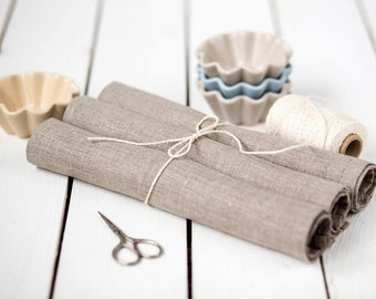 Linen placemats set of 4, Easter placemats, Rustic placemats, Organic placemats, Linen table mats, Burlap table decor, Gift for Mom