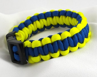 Blue and Yellow Survival Bracelet