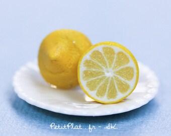 Lemon Earrings, Miniature Fruit Jewelry in Juicy Yellow