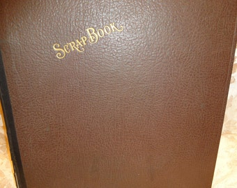 Antique Scrap Book from The 1930's/Vintage/Antique/Books/Handmade