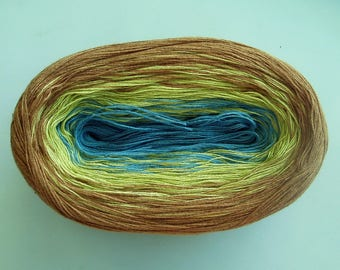 FLAXEN II --mega--  Color Changing Cotton yarn  865 yards/180 gr  Fingering Weight