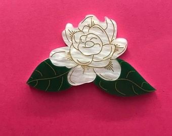 Raat Ki Raani ~ Acrylic Jasmine Flower Brooch