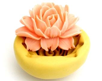 LARGE Flower Mold   Clay     Cabochon Kawaii  Silicone Mold fondant mold resin mold
