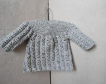 Life jacket baby/reborn grey size 6 month pattern