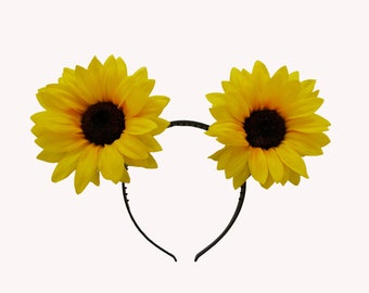 Giant Sunflower Cat Ears