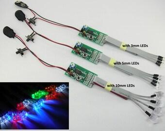 Luces de LED RC Kit - estroboscópico y sistema de iluminación efectos Flash Chaser - 4 LEDs navegación avión Quadcopter Multicopter Multirotor coche
