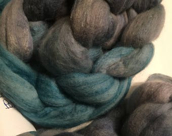 Polworth/Silk Blended Roving -Daenerys