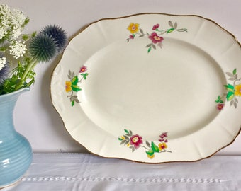 1940 Alfred Meakin vintage large platter. Vegetable dish.