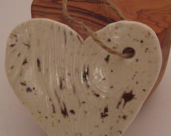 Hand Built Heart Ornament