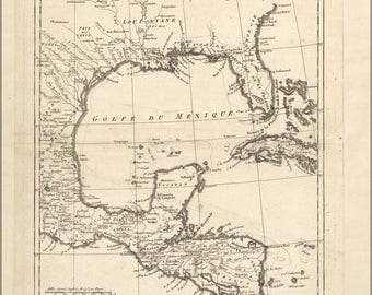 Poster, Many Sizes Available; Map Of Gulf Of Mexico 1788