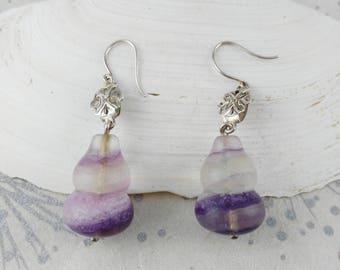 Purple Drop Earrings - Gemstone Earrings - Gift for Women - Festival Earrings - Anniversary Gift - Minimalist Earrings - Mother's Day Gift