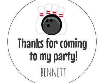 12 Bowling Stickers, Strike, Bowling Theme, Birthday Labels, Bowling Birthday, First Birthday, Bowling Alley, Strike Zone, Celebrate