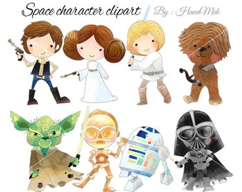 Space character clipart set 1 PNG file-300 dpi