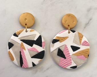 Circle drop earrings - 'Golden Years'