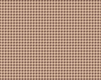 Hounds Tooth in Brown 100% Cotton Riley Blake Roundup! Fabric by Samantha Walker Sold by 1/4, 1/2, 3/4 or a Yard Sewing/Quilting/Applique