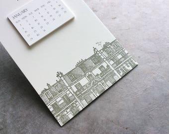 Paris Cityscape Postcard Calendar