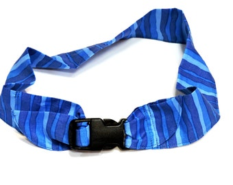 """Dog Cooling Collar, Gel Neck Cooler Bandana, Stay Cool Tie Band 4 Extra Large Dogs Size XL fits 22"""" to 26"""" inch neck, Blue Stripe iycbrand"""