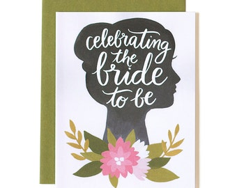 Celebrating the Bride to Be Illustrated Card // 1canoe2