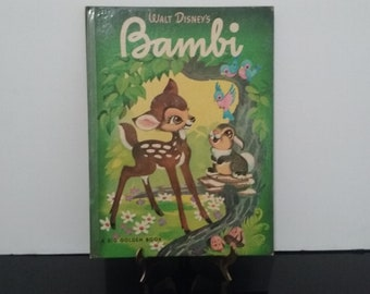"Rare! Vintage 1949 Golden Book - Walt Disney's ""Bambi"" Hard Cover Book!"