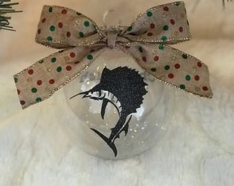 Fish Christmas Ball Ornament - Personalized