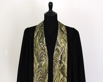"Clergy Stole, Bookbinder #27, Pastor Stole, Minister Stole, 54"" Length, Pastor Gift, Vestments"