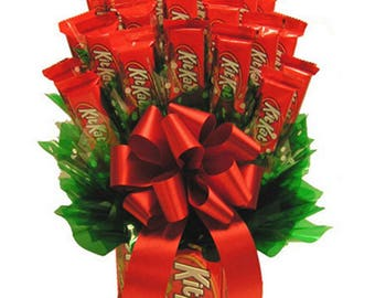 Gift Candy Arrangement KITKAT Chocolate Candy Bouquet