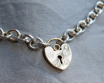 BDSM Collar, 14K Heart Padlock, Heart Padlock Choker, BDSM Day Collar, Heart Choker, 14K Heart, Heart Padlock, Bikerchick Choker, BDSM Gift