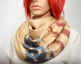 American flag  scarf/shawl