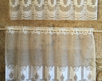 French lace cafe curtain set - picture window design
