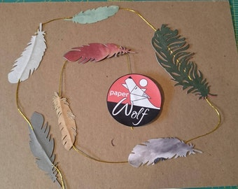 Paper feather strings