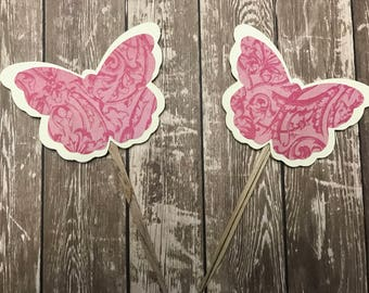 Butterfly Cupcake Toppers Birthday Bridal Baby Shower
