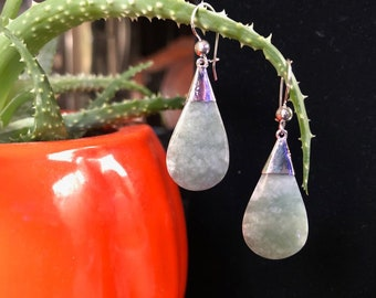 925 Silver earrings with jade