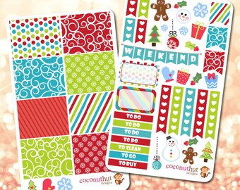 Holiday / Christmas / Winter Theme Planner Stickers
